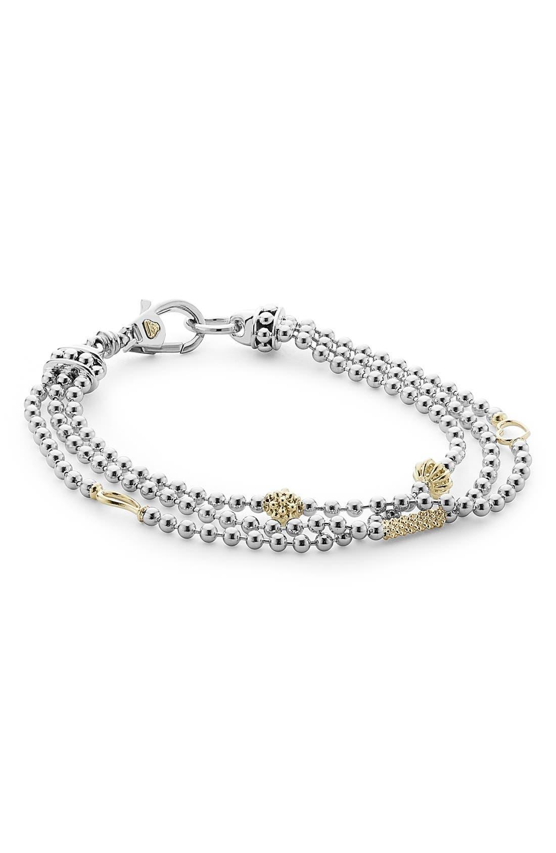 'Caviar Icon' Multistrand Bracelet,                         Main,                         color, Silver/ Gold