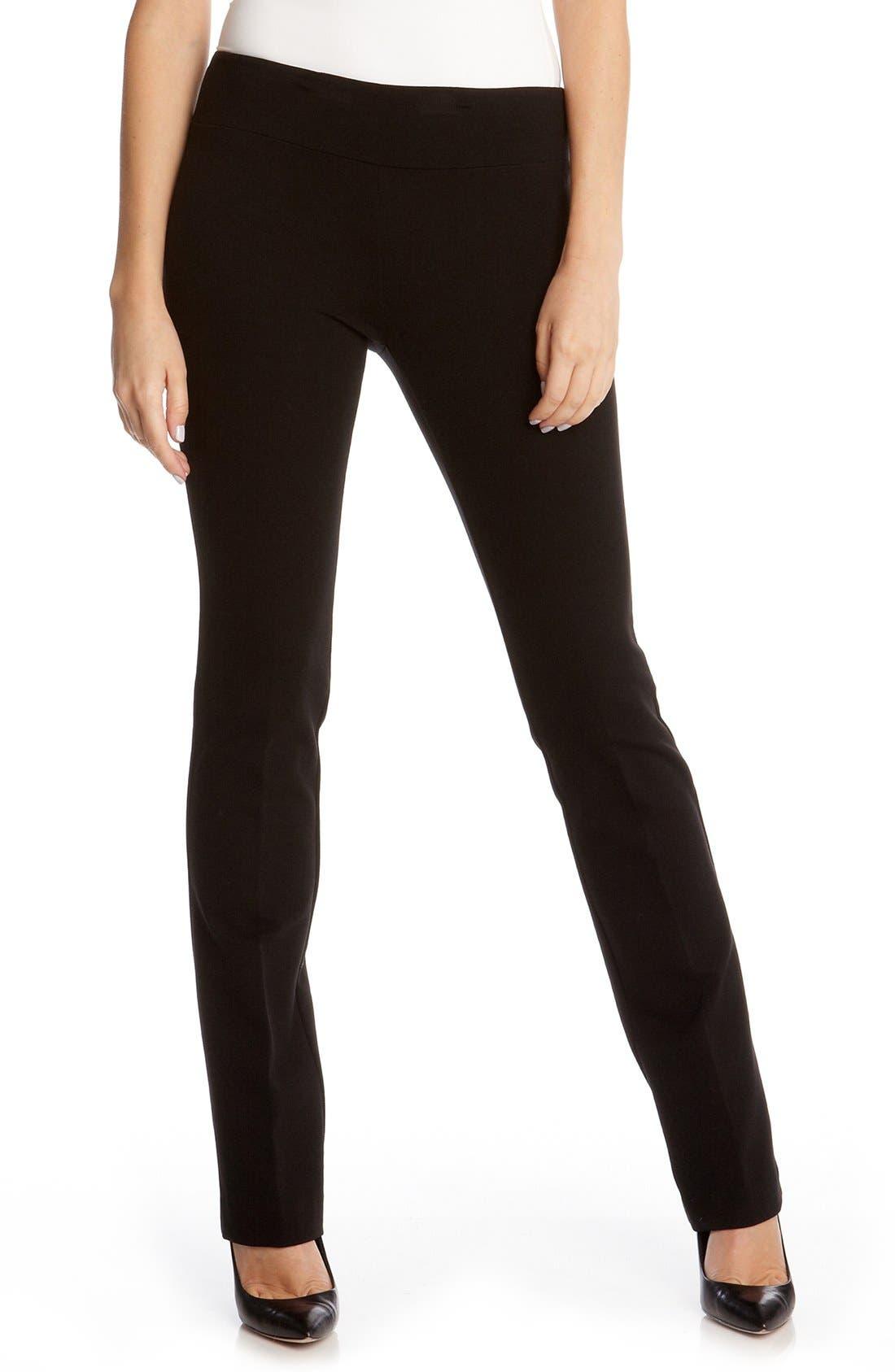 Ponte Knit Pants,                         Main,                         color, Black