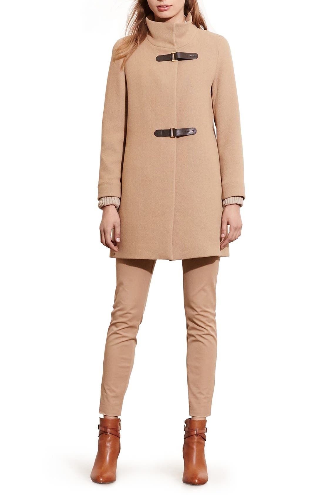 Alternate Image 5  - Lauren Ralph Lauren Funnel Neck Wool Coat