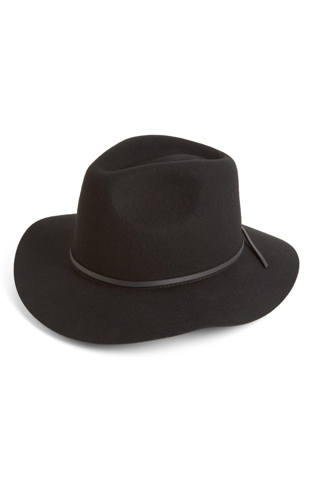 'Wesley' WoolFedora,                         Main,                         color, Black