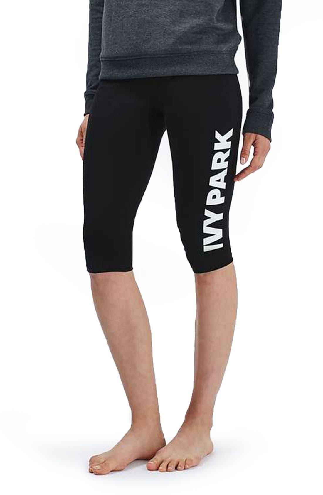 Alternate Image 1 Selected - IVY PARK® Logo Capri Leggings