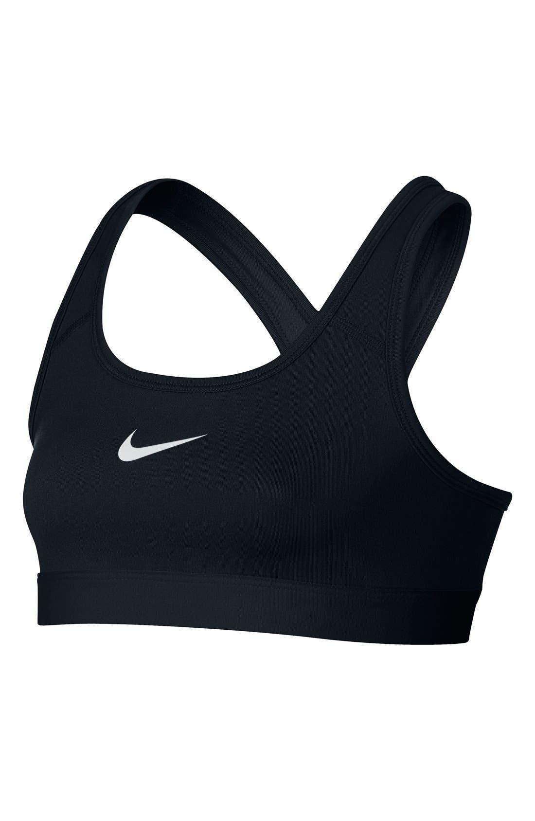'Pro Classic' Dri-FIT Sports Bra,                         Main,                         color, Black/ White