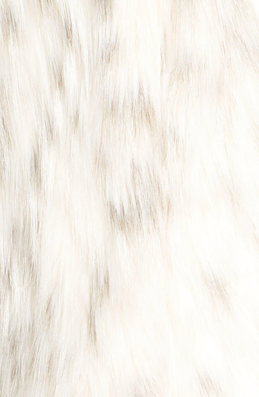 Alternate Image 5  - Via Spiga Collarless Faux Fur Vest