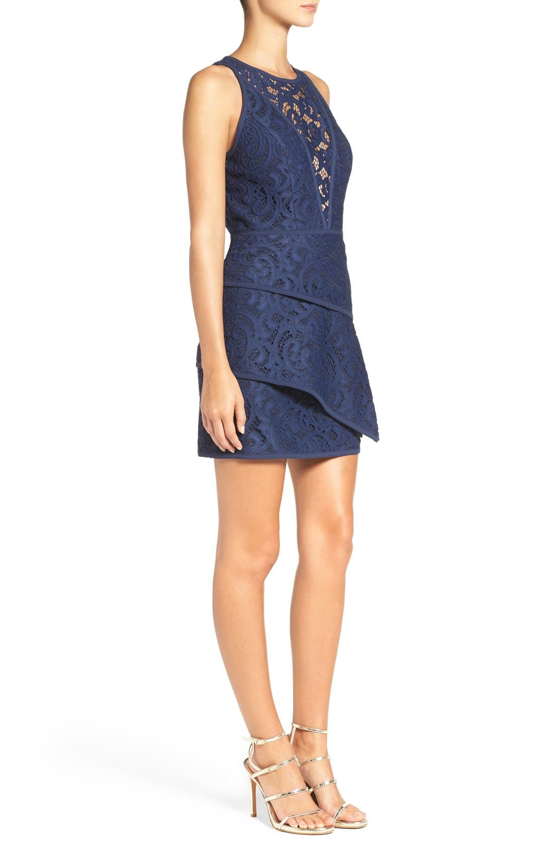 Alternate Image 3  - BCBGMAXAZRIA 'Hannah' Tiered Lace Fit & Flare Dress
