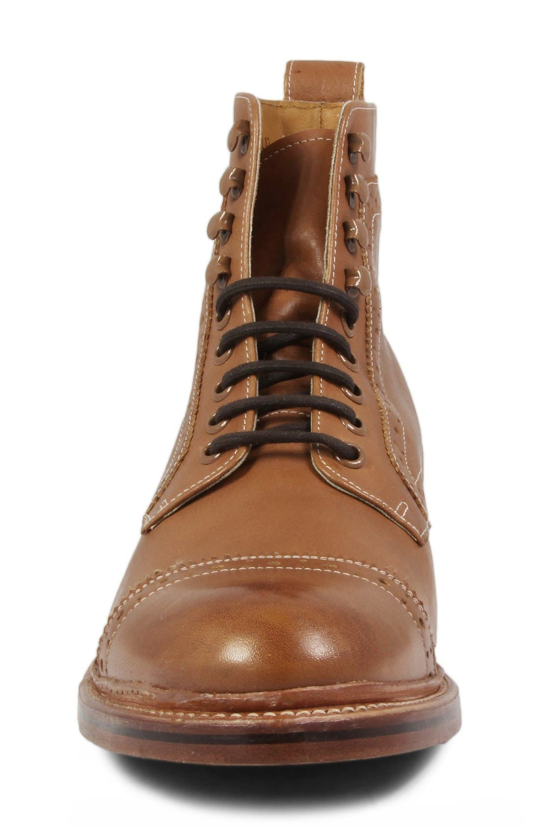 Madison II Cap Toe Boot,                             Alternate thumbnail 3, color,                             Tan Smooth