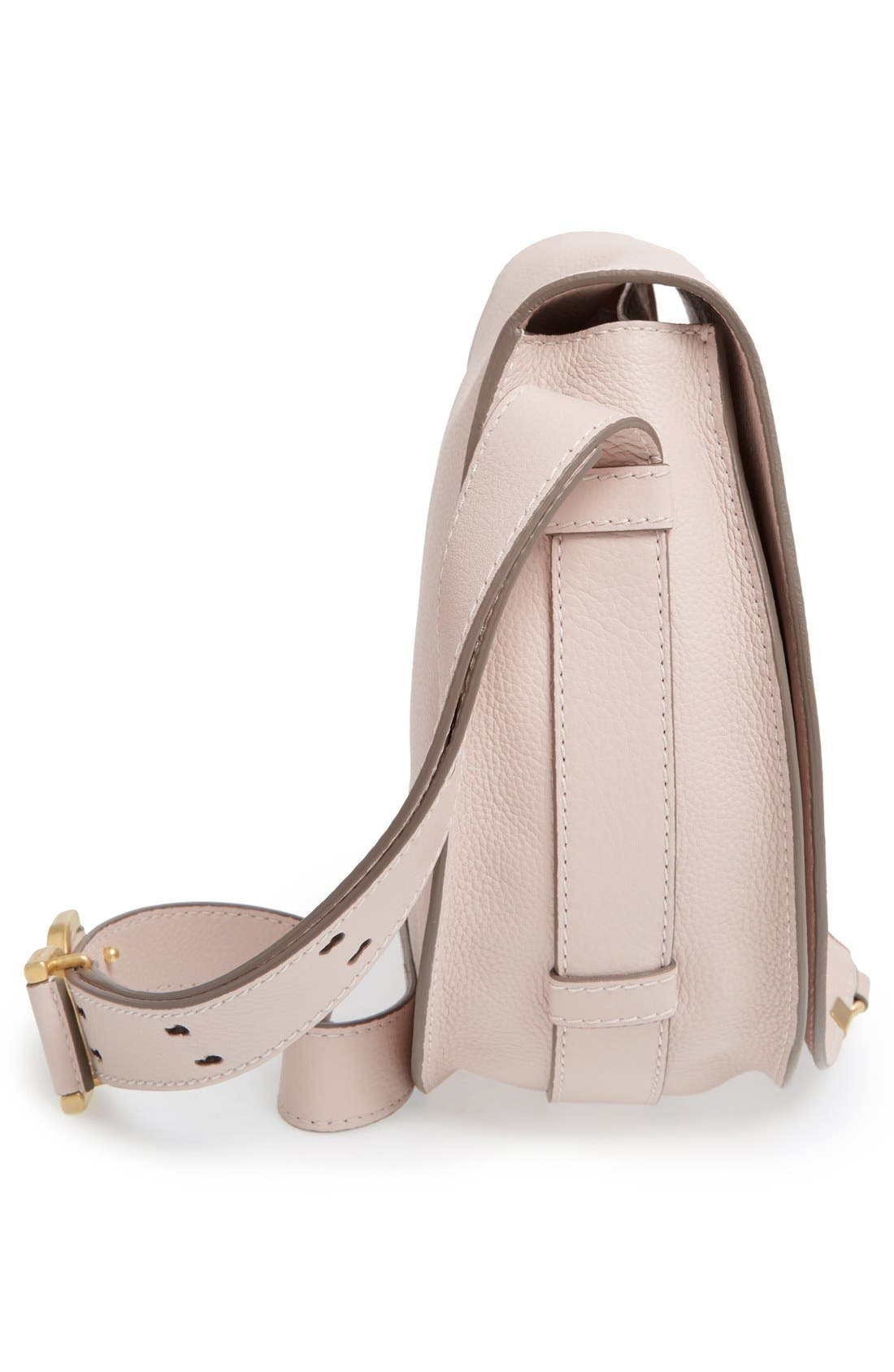 'Marcie - Medium' Leather Crossbody Bag,                             Alternate thumbnail 5, color,                             Abstract White