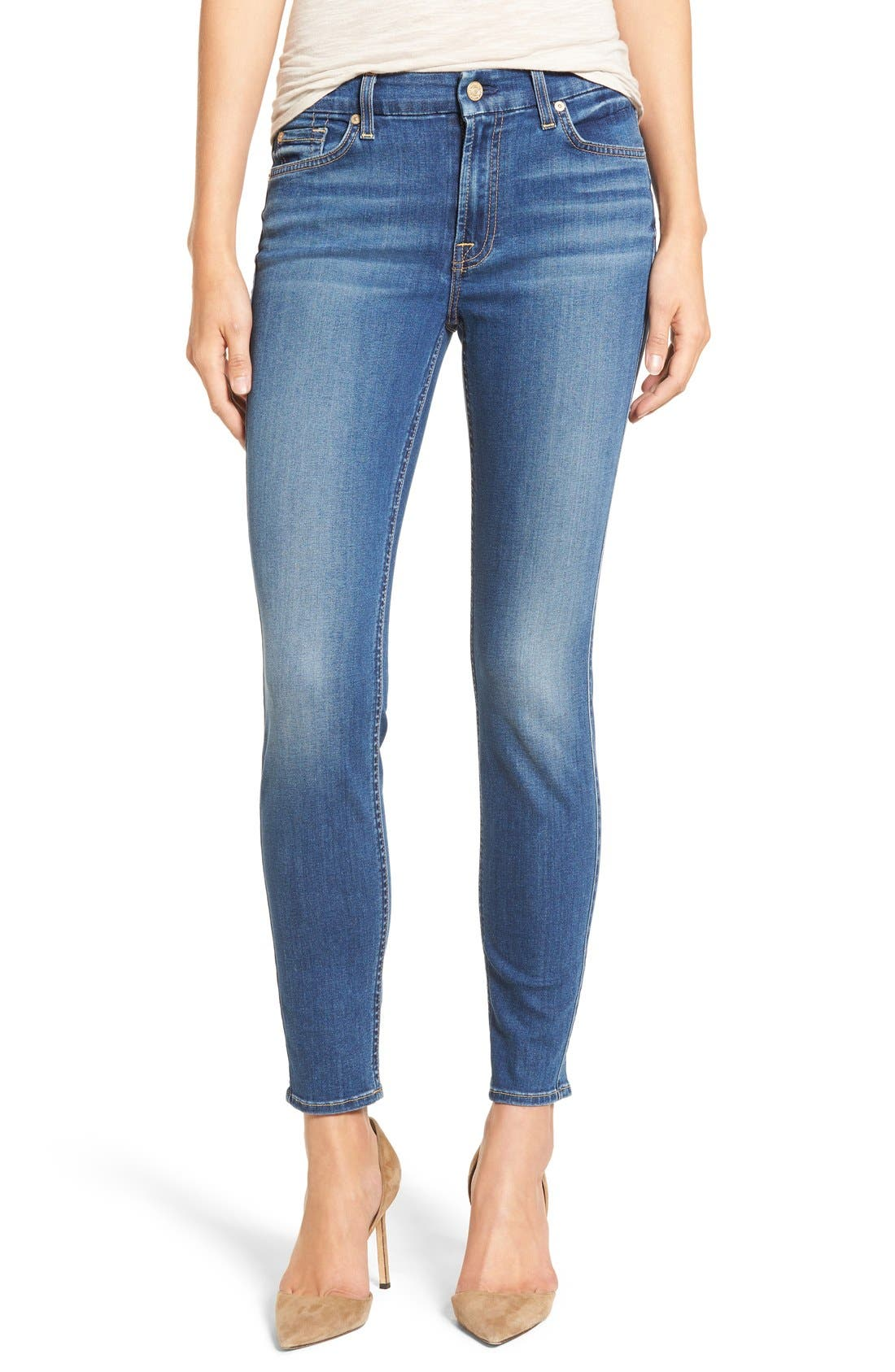 7 For All Mankind® 'b(air) - The Ankle' Skinny Jeans
