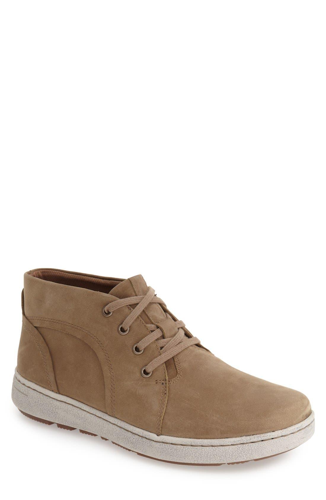 'Virgil Sneaker,                         Main,                         color, Khaki Milled Nubuck Leather