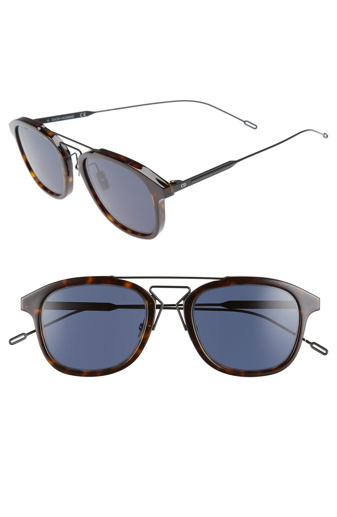 'Black Tie' 51mm Sunglasses,                             Main thumbnail 1, color,                             Havana