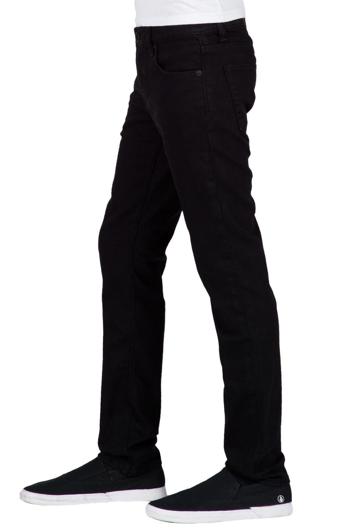 'Solver' Straight Leg Denim Jeans,                             Alternate thumbnail 3, color,                             New Black