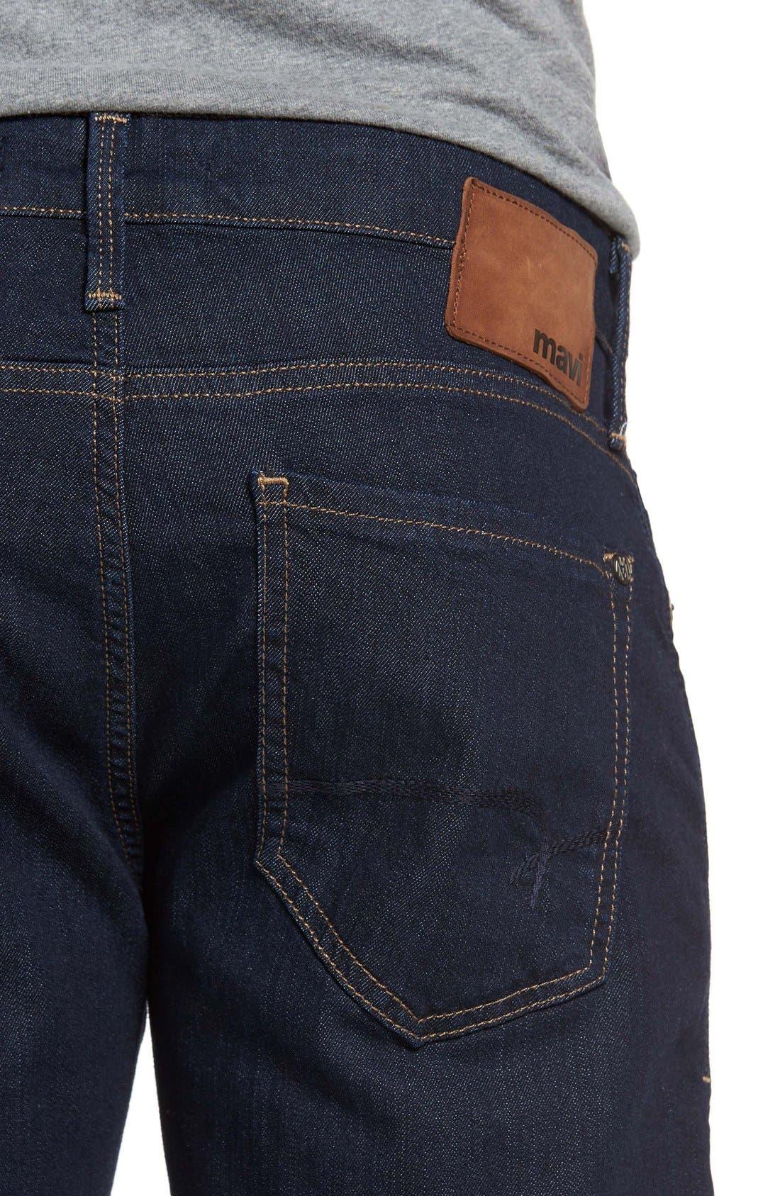 Alternate Image 4  - Mavi Jeans 'Zach' Straight Leg Jeans (Dark Blue)