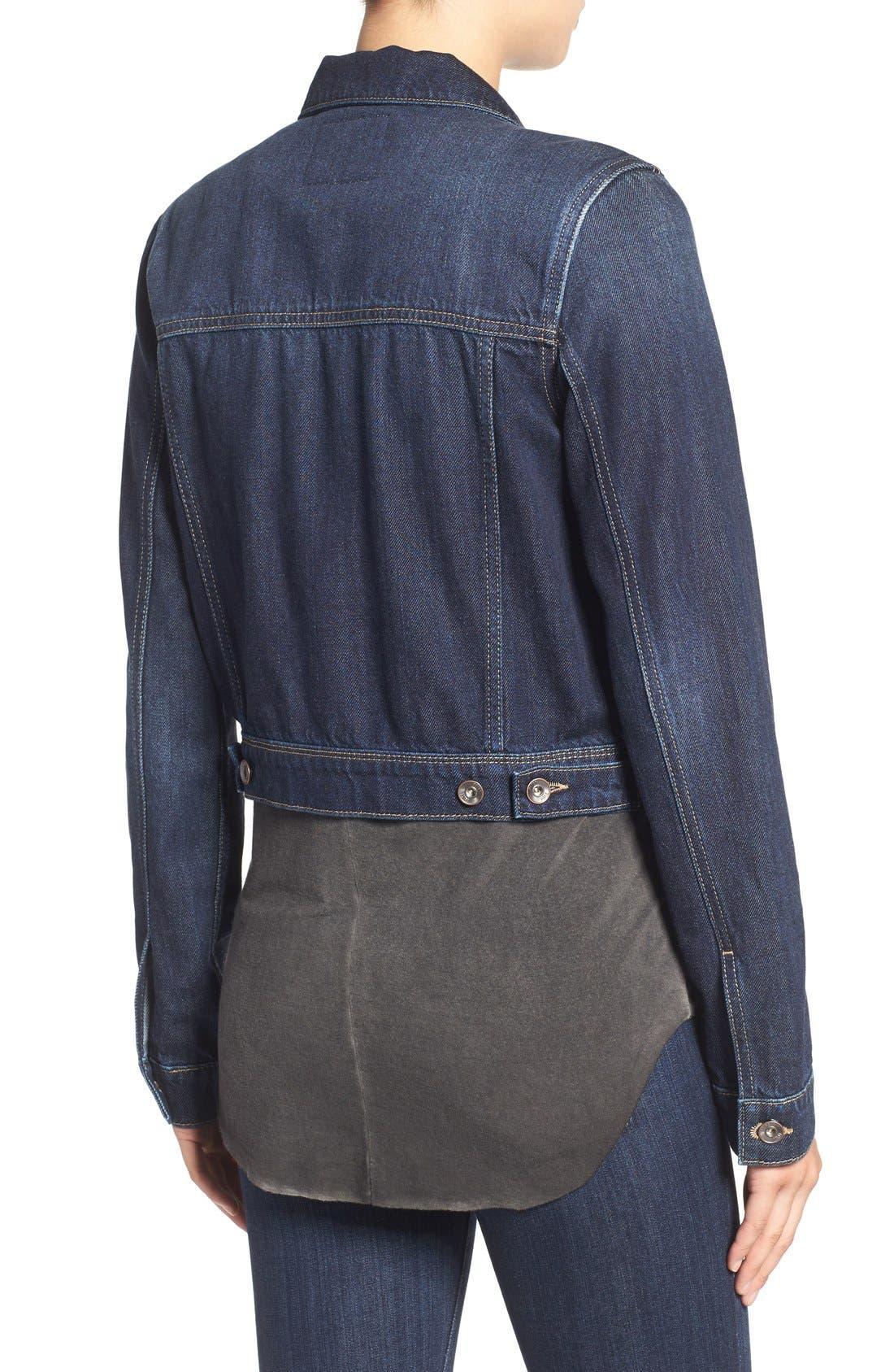 Alternate Image 2  - PAIGE 'Vivienne' Denim Jacket (Arwen)