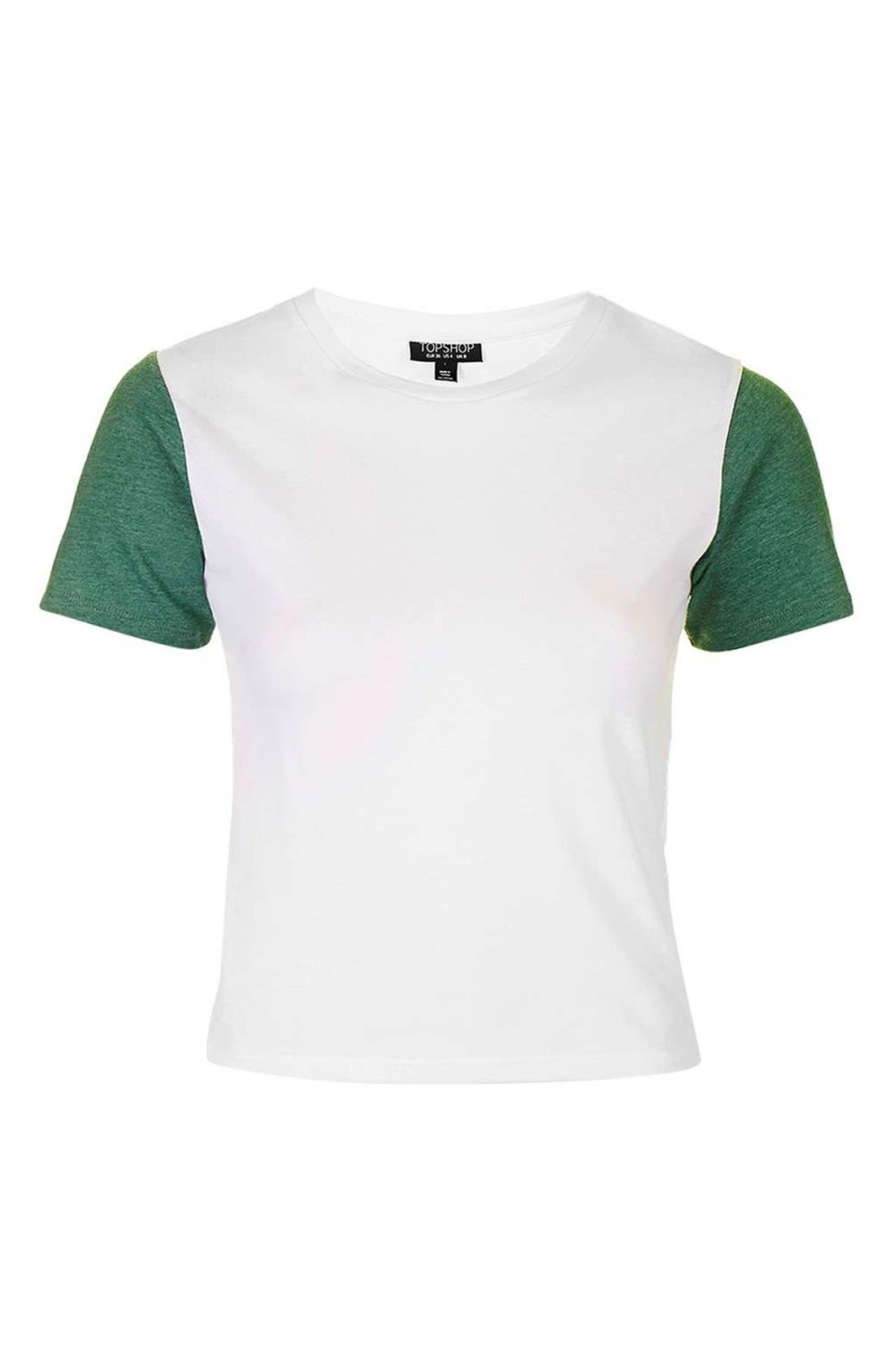 Alternate Image 4  - Topshop Colorblock Tee