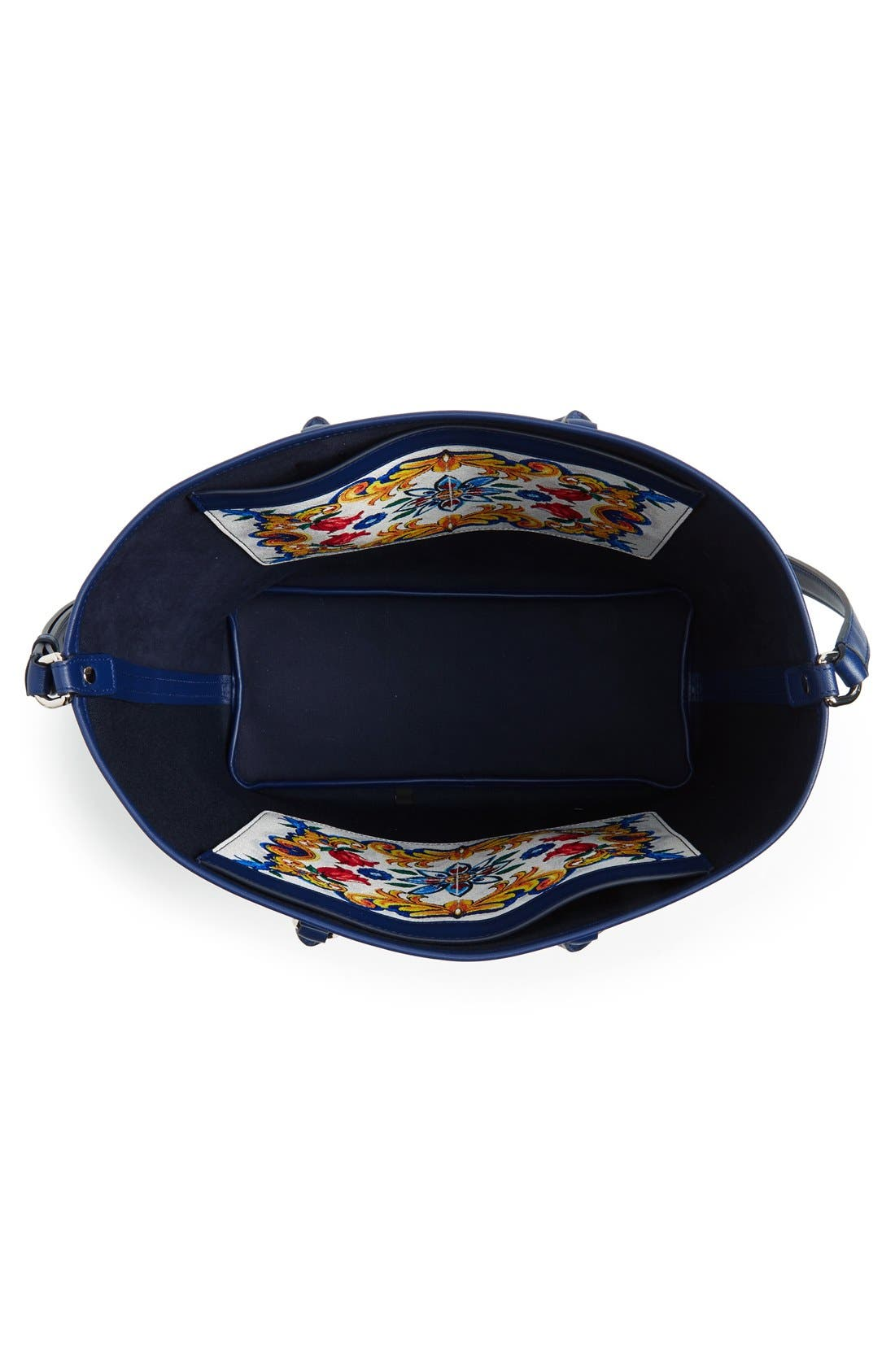 Alternate Image 3  - Dolce&Gabbana 'Lara' Mallorca Print Painted Shopper