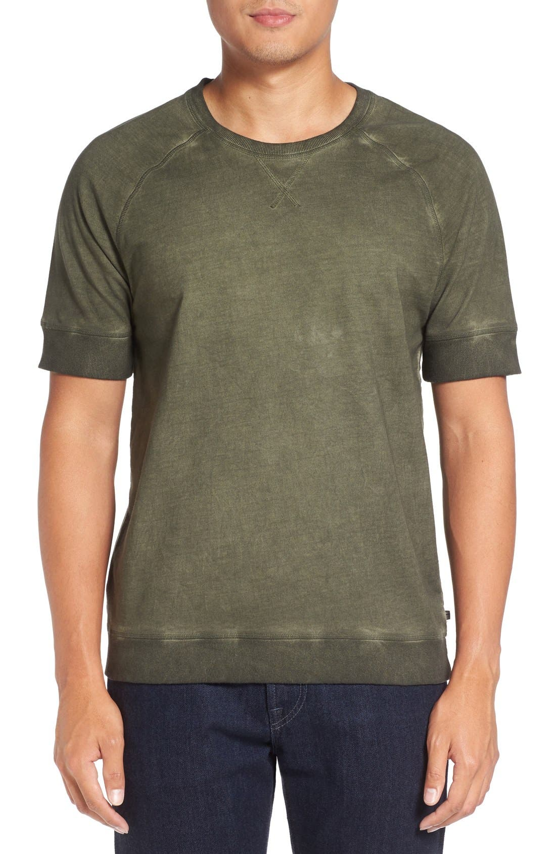 Raglan Sleeve T-Shirt,                         Main,                         color, Covert Green