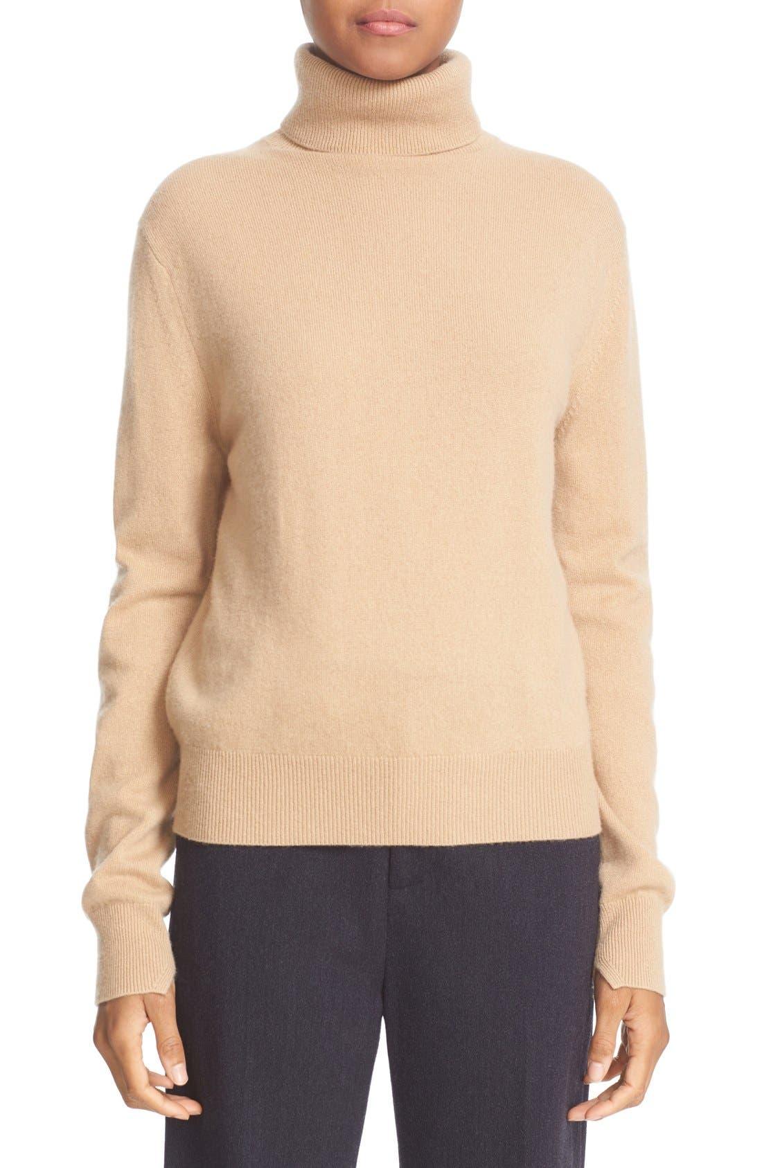 Alternate Image 1 Selected - Vince Cashmere Turtleneck Sweater