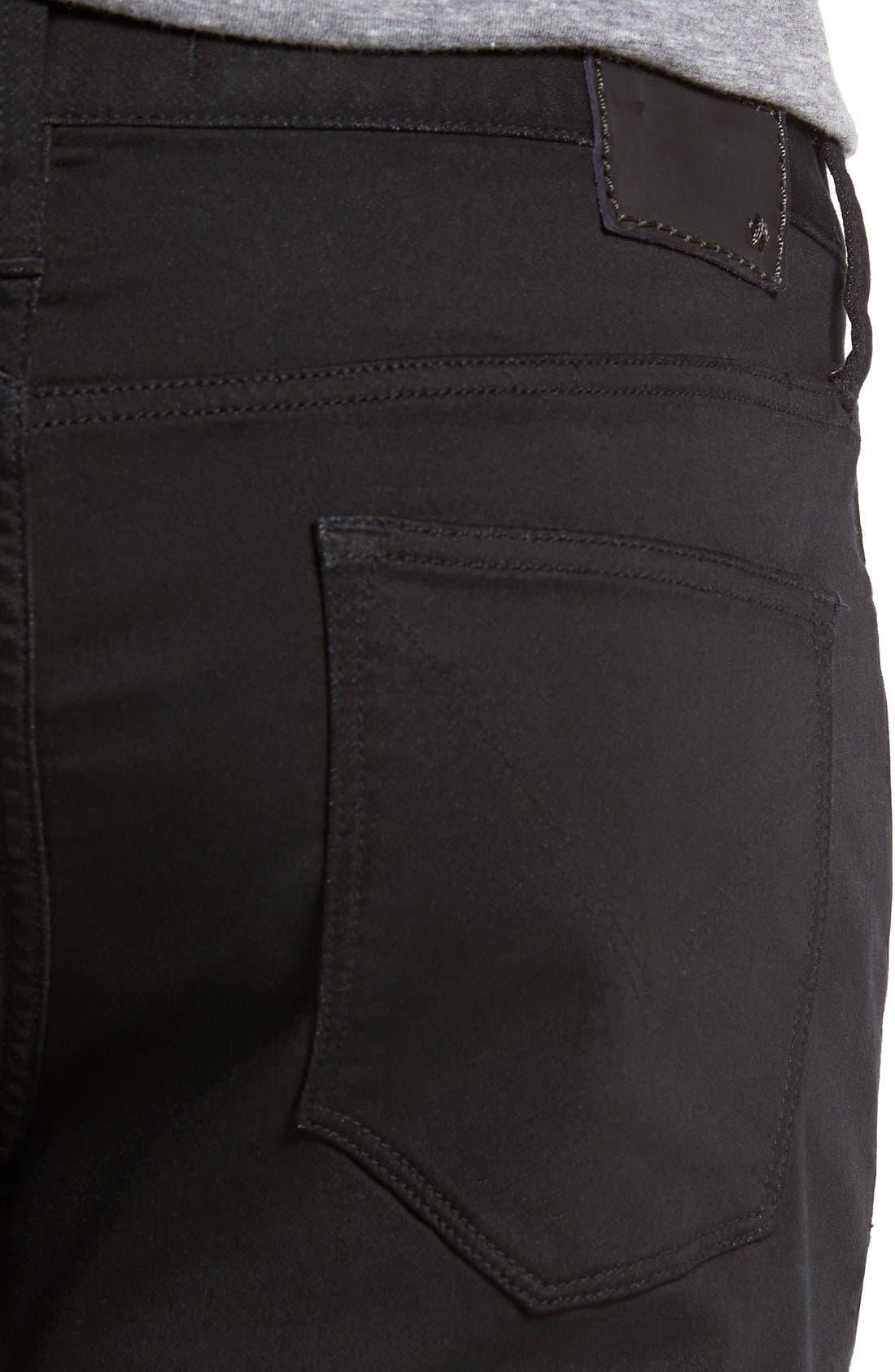 'Bowery' Slim Straight Leg Jeans,                             Alternate thumbnail 4, color,                             Black