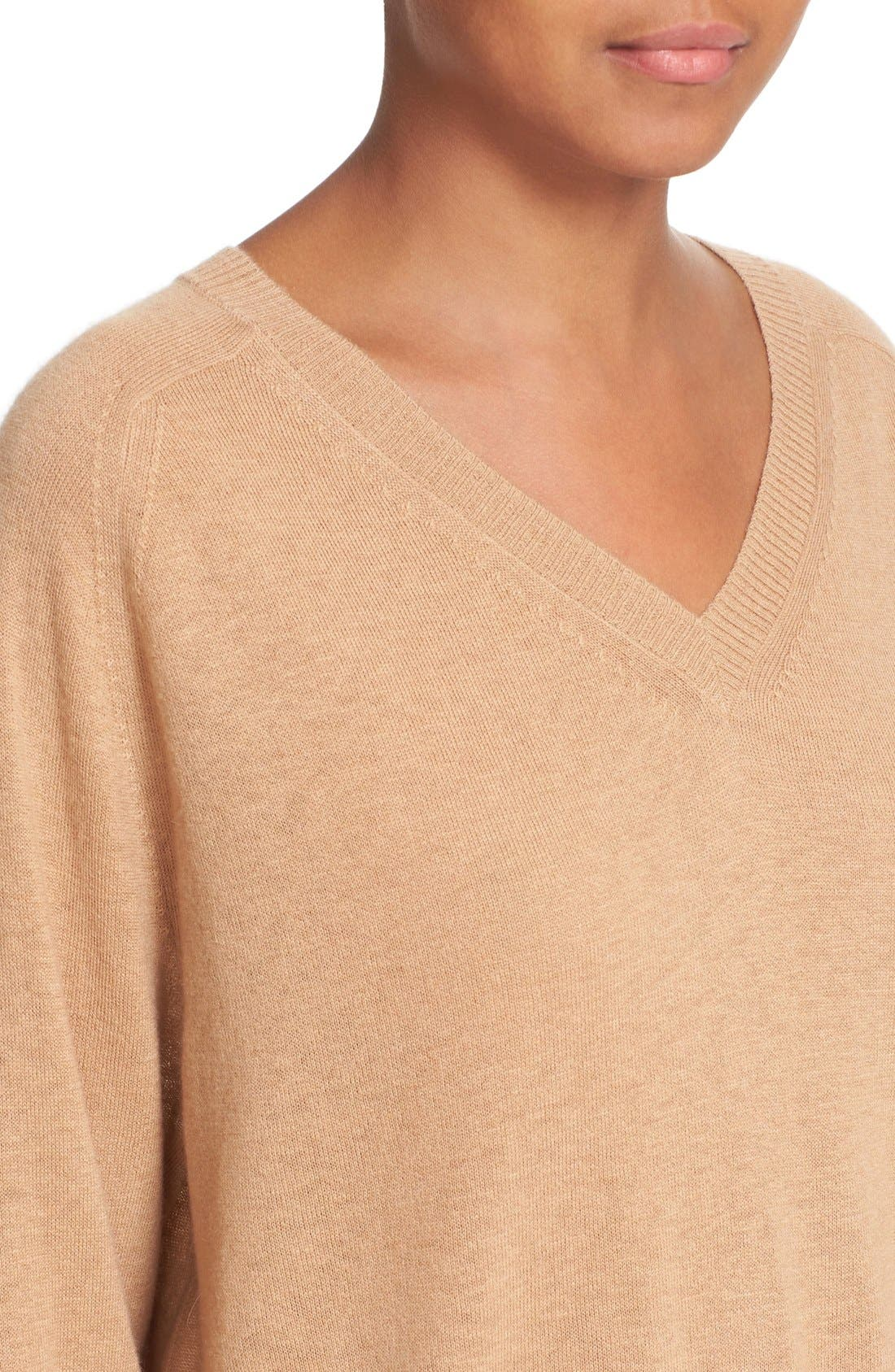 Alternate Image 4  - Vince Relaxed Cashmere V-Neck Sweater