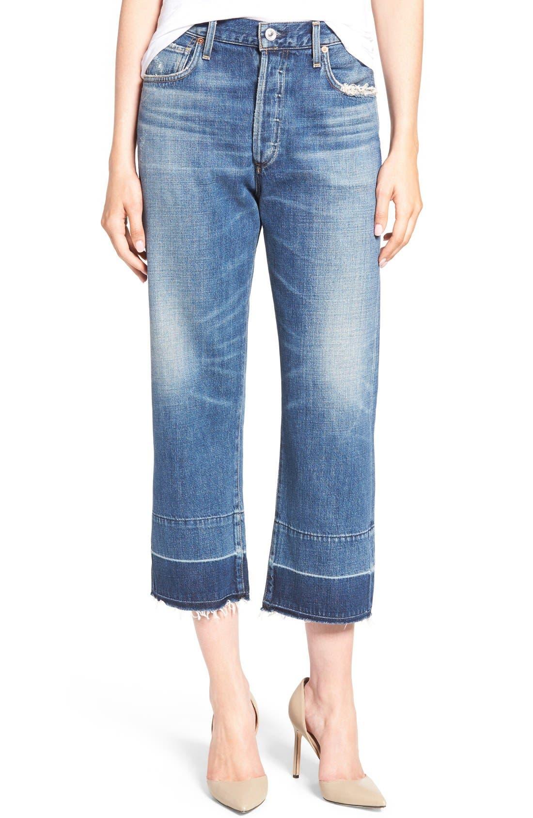 Cora High Waist Released Hem Boyfriend Jeans,                         Main,                         color, Fade Out