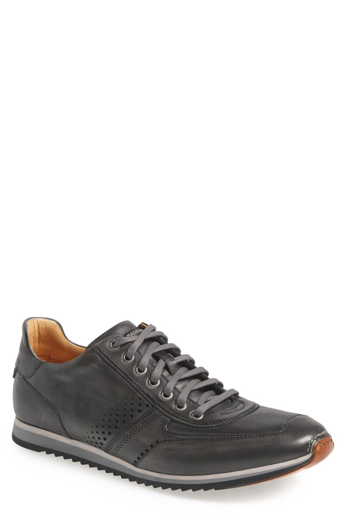 'Cristian' Sneaker,                         Main,                         color, Grey Leather