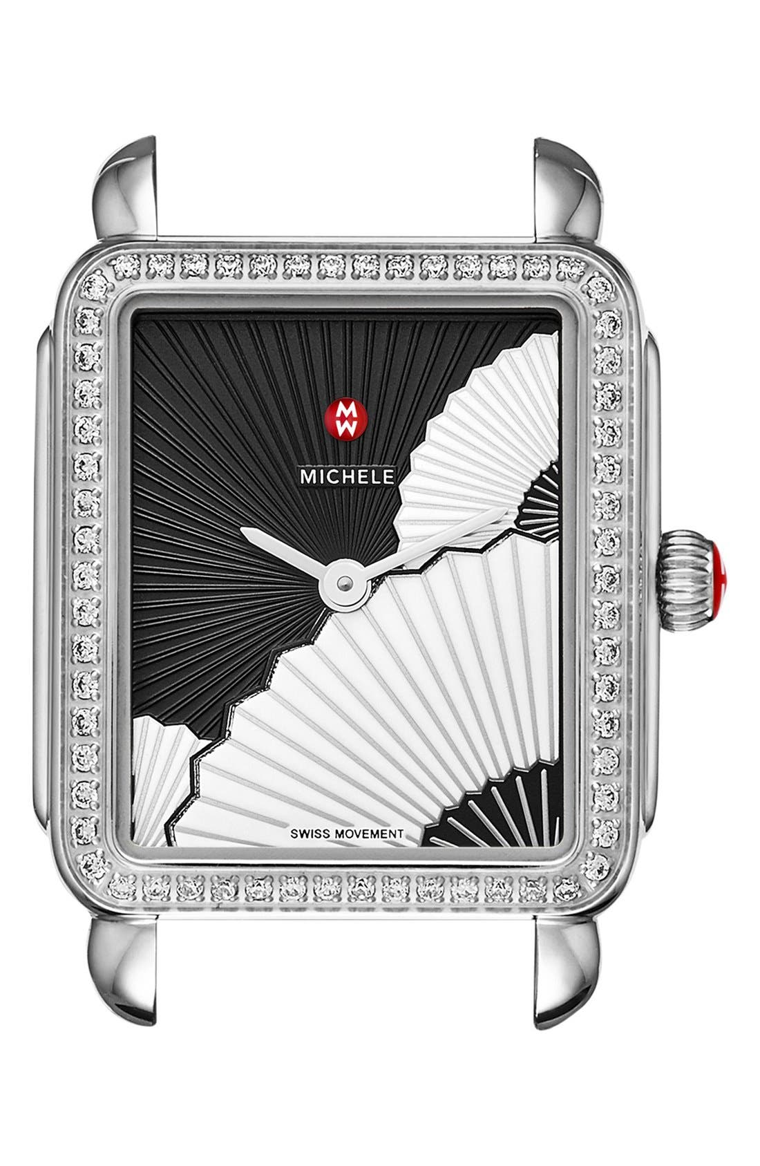 MICHELE Deco II Diamond Dial Watch Case, 26mm x 27 1/2mm
