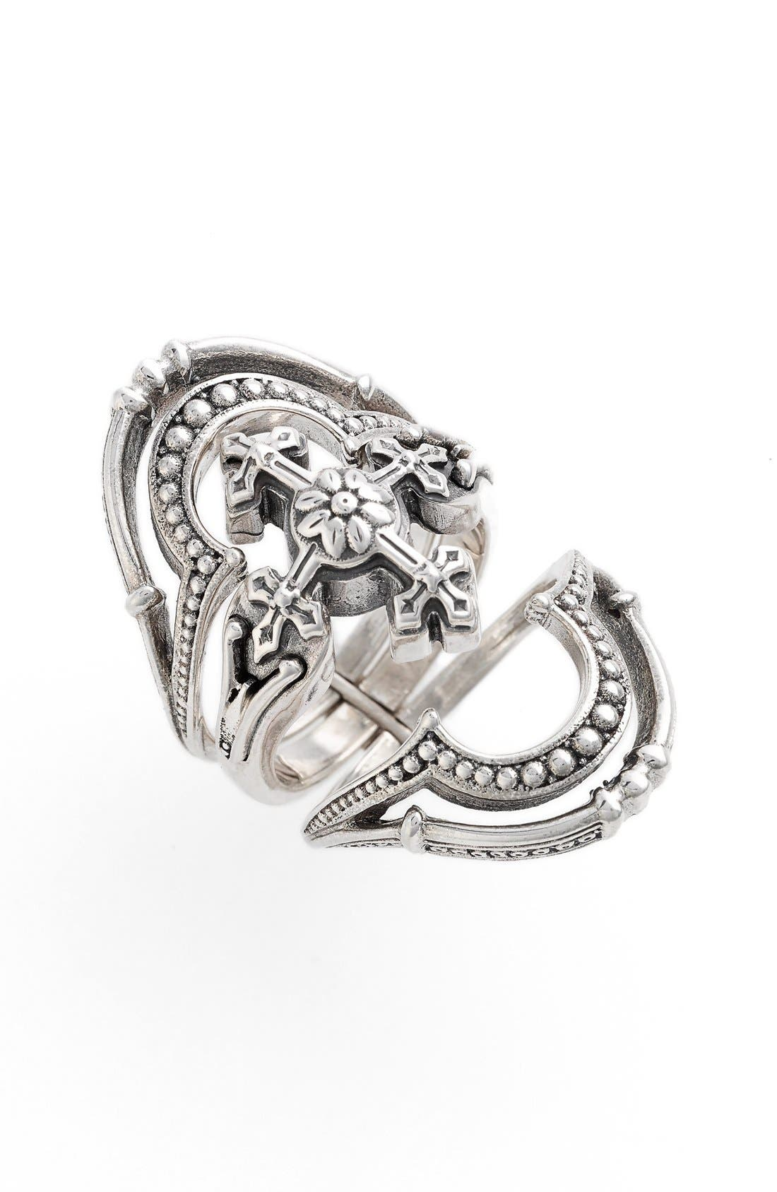 'Penelope' Openwork Ring,                             Main thumbnail 1, color,                             Silver