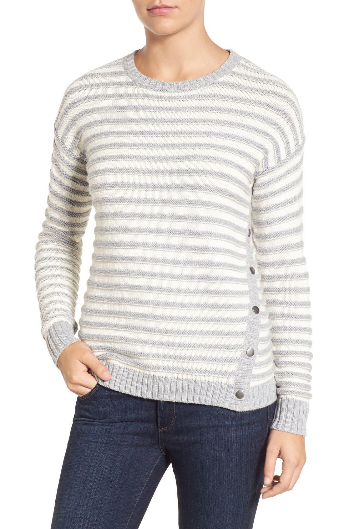Alternate Image 1 Selected - Caslon® Side Snap Sweater (Regular & Petite)