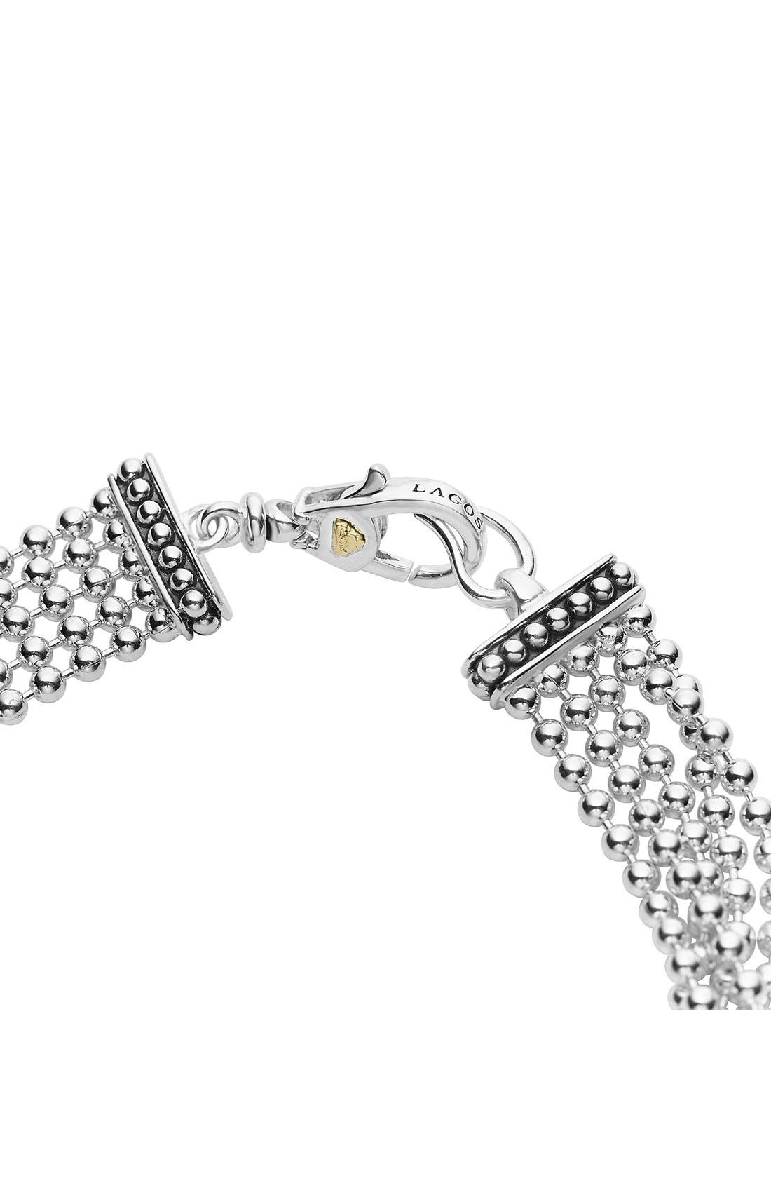 'Caviar Icon' Multistrand Bracelet,                             Alternate thumbnail 3, color,                             Silver/ Gold