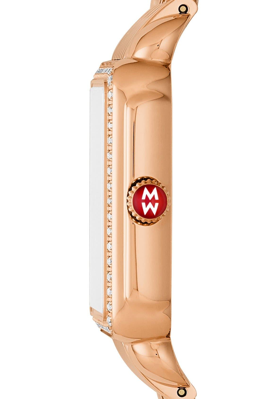 Alternate Image 3  - MICHELE Deco II Mid Diamond Dial Watch Case, 26mm x 28mm