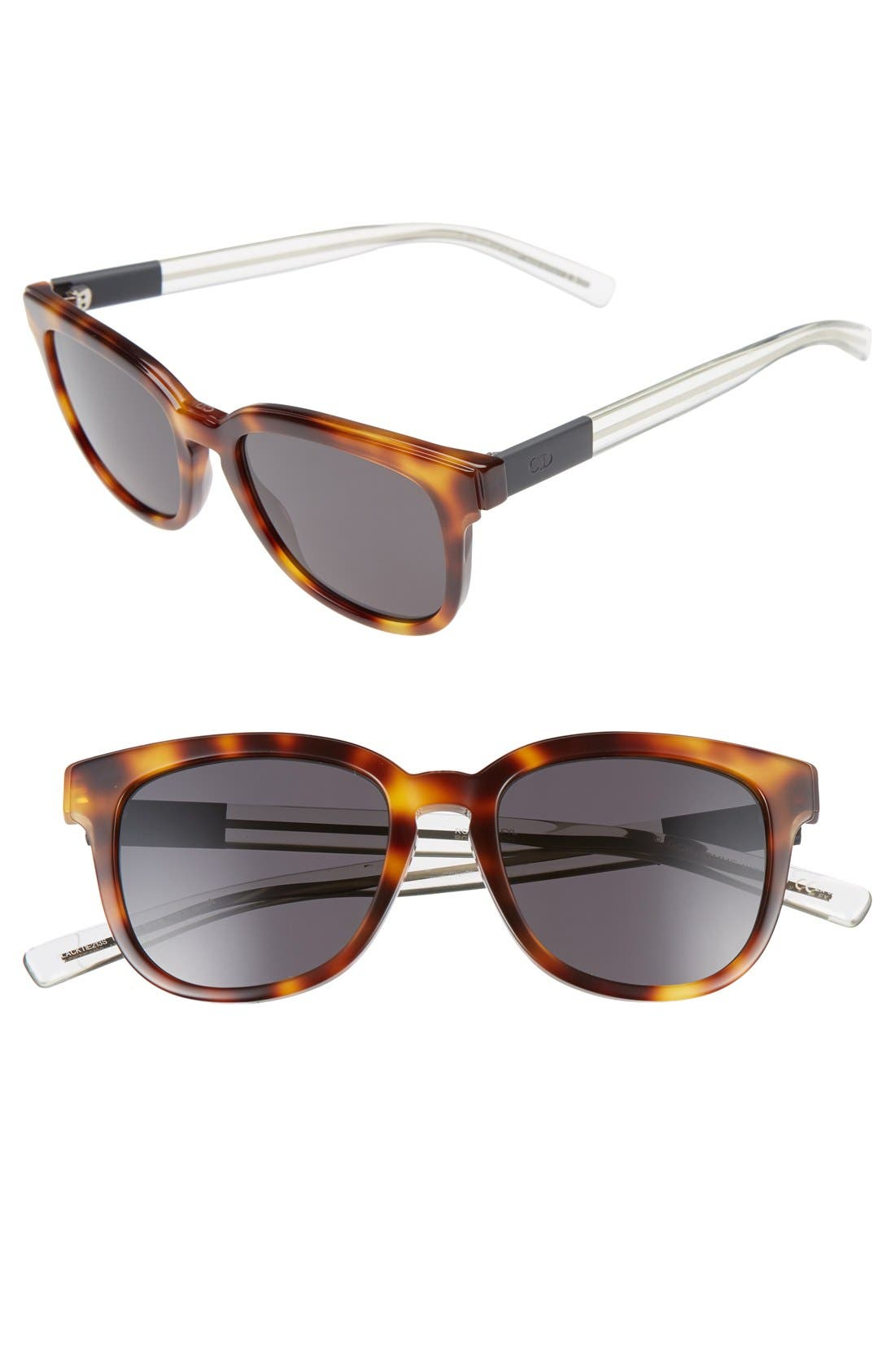'Black Tie' 52mm Sunglasses,                             Main thumbnail 1, color,                             Havana Crystal