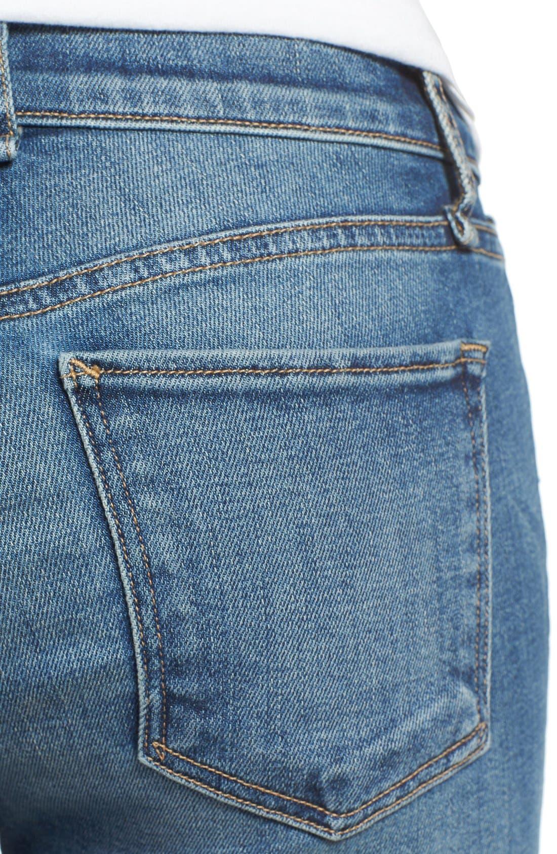 Alternate Image 4  - McGuire 'Newton' Released Hem Crop Skinny Jeans (Iona)
