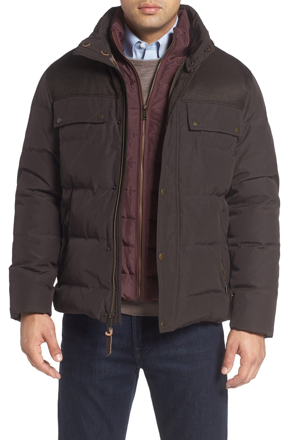 Cole Haan Quilted Military Jacket