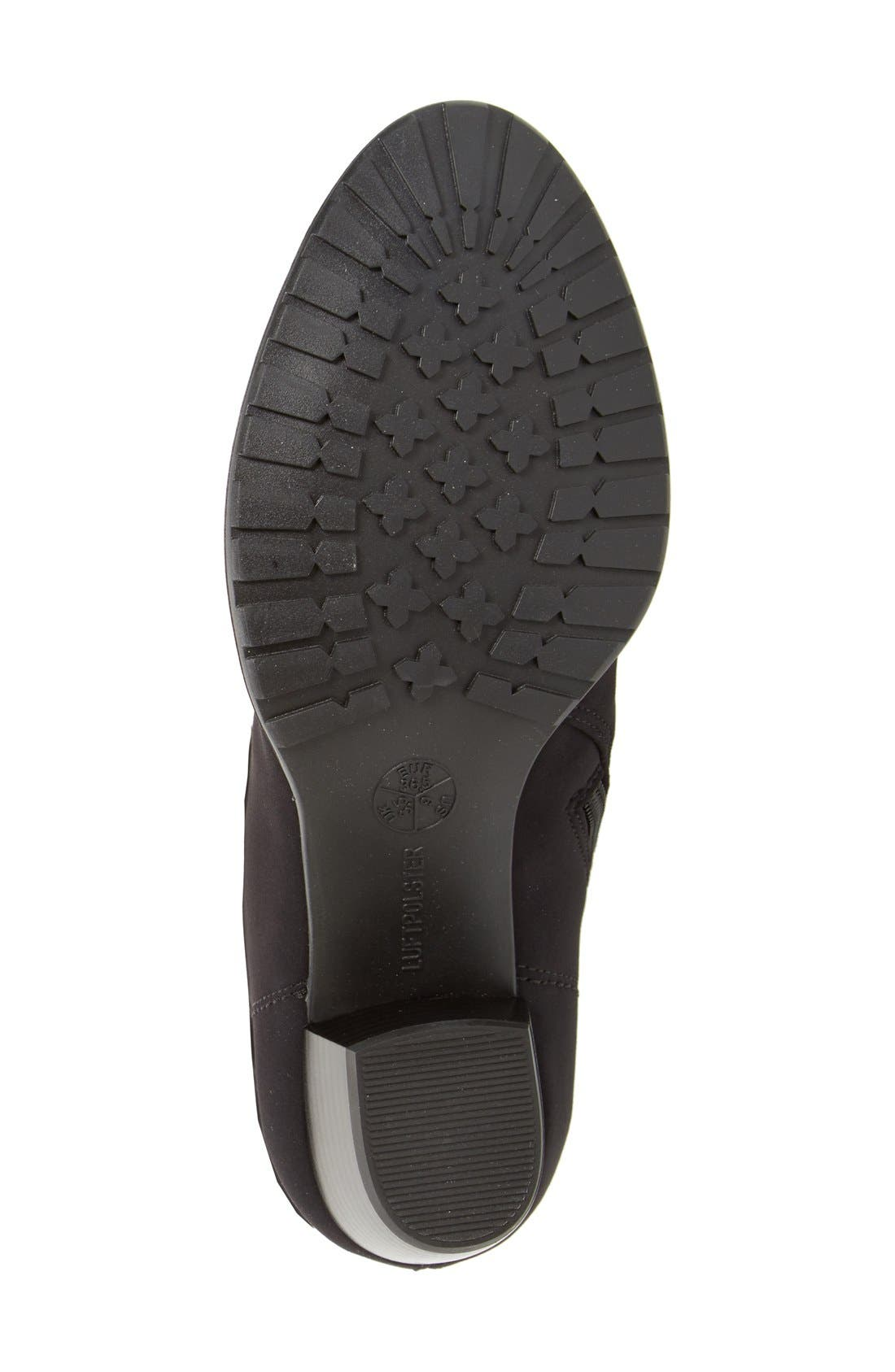 'Fairfax' Waterproof Gore-Tex<sup>®</sup> Block Heel Boot,                             Alternate thumbnail 4, color,                             Black Fabric