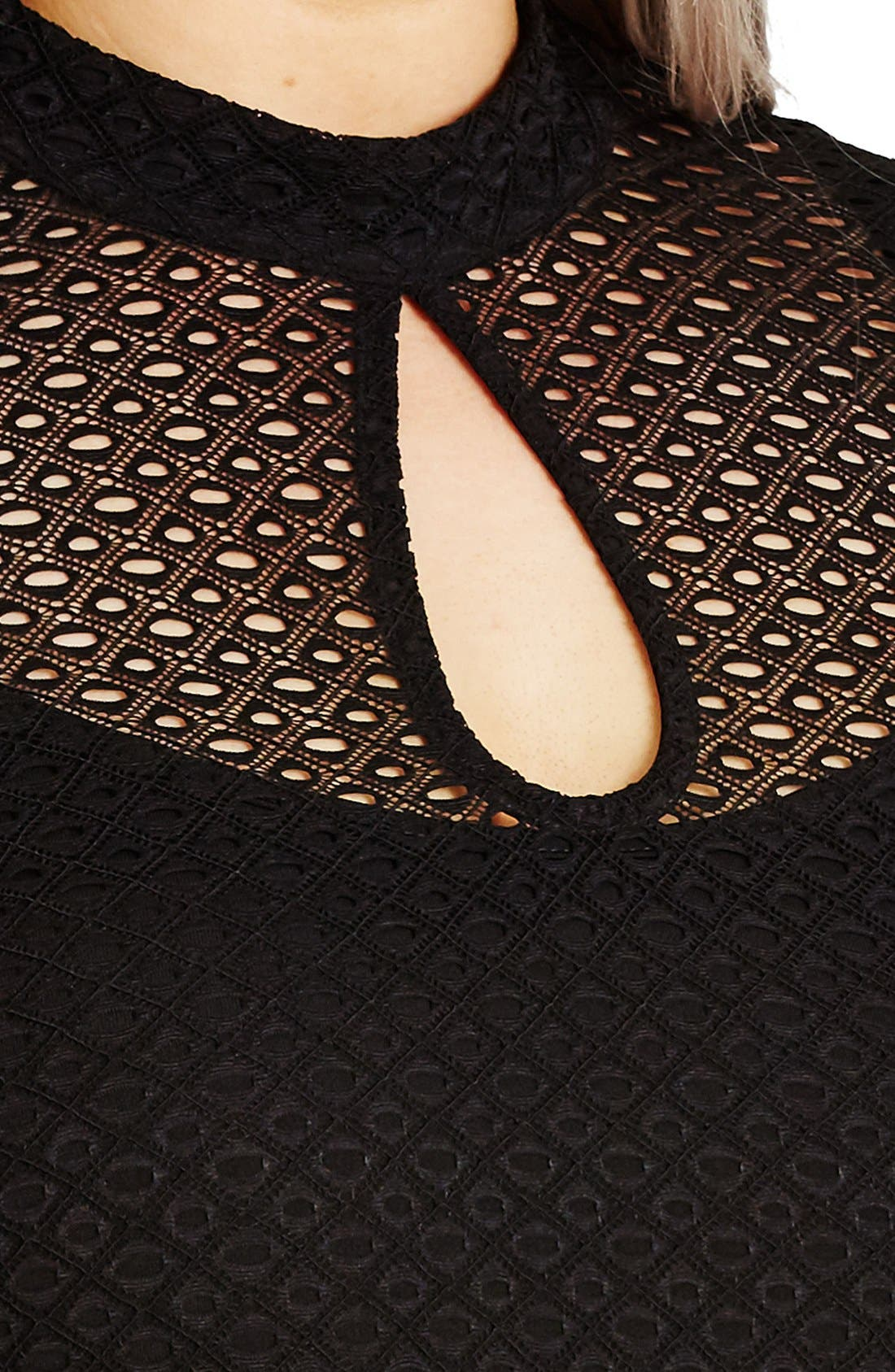 Alternate Image 4  - City Chic Geo Lace Maxi Dress (Plus Size)
