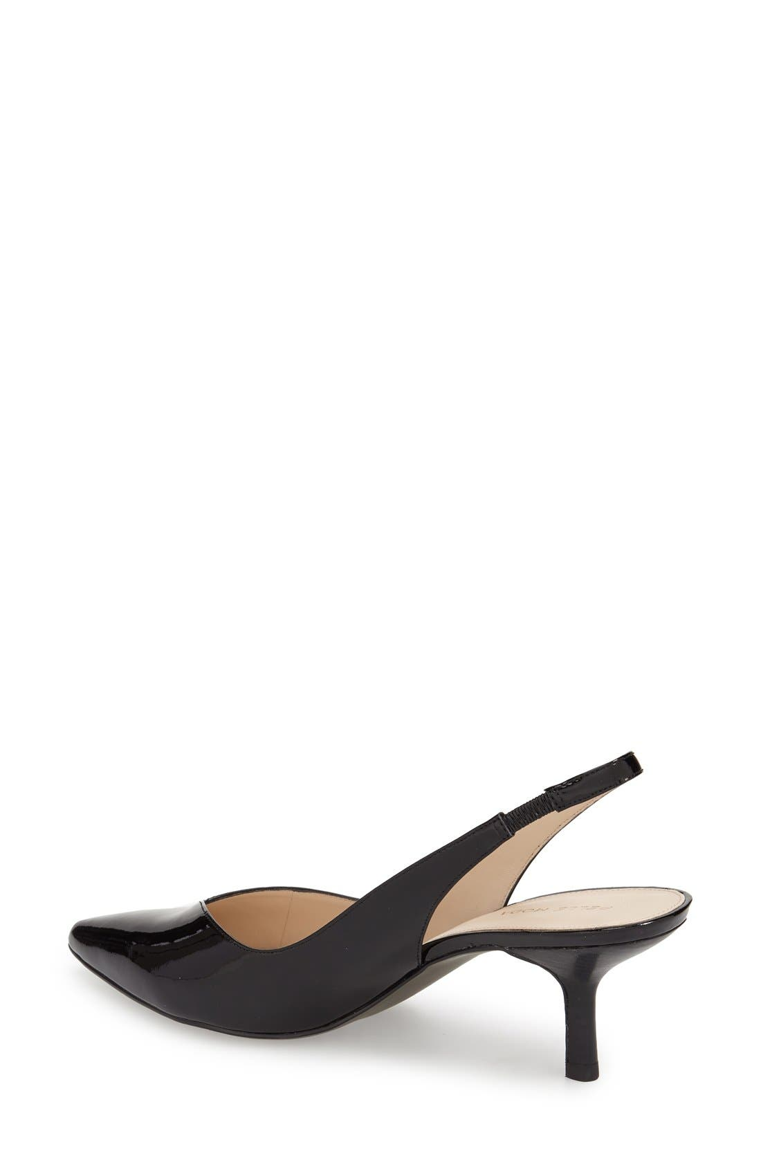 'Oasis' Slingback Pump,                             Alternate thumbnail 2, color,                             Black Patent Leather