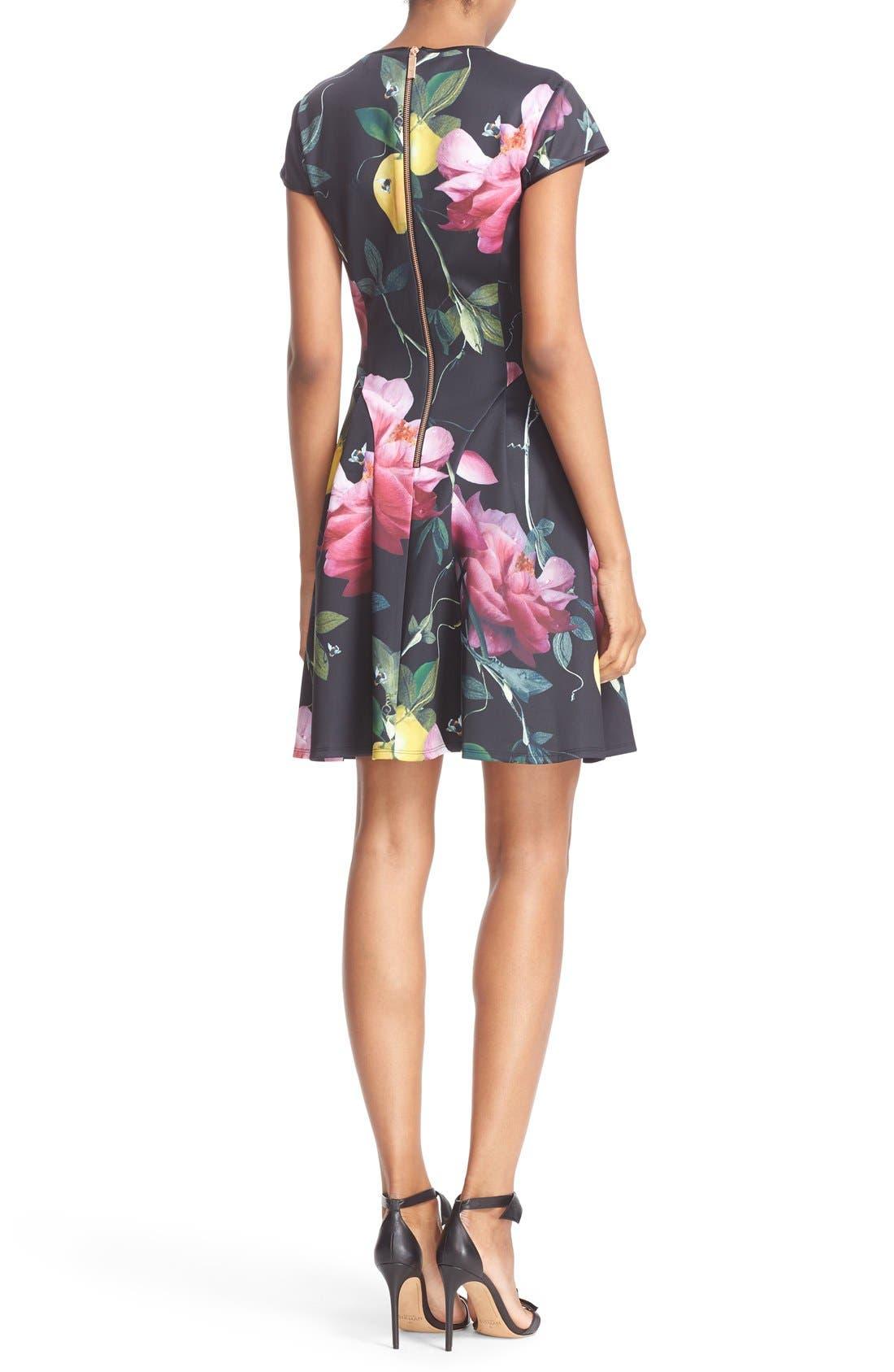 Alternate Image 2  - Ted Baker London 'Allisia' Print Skater Dress