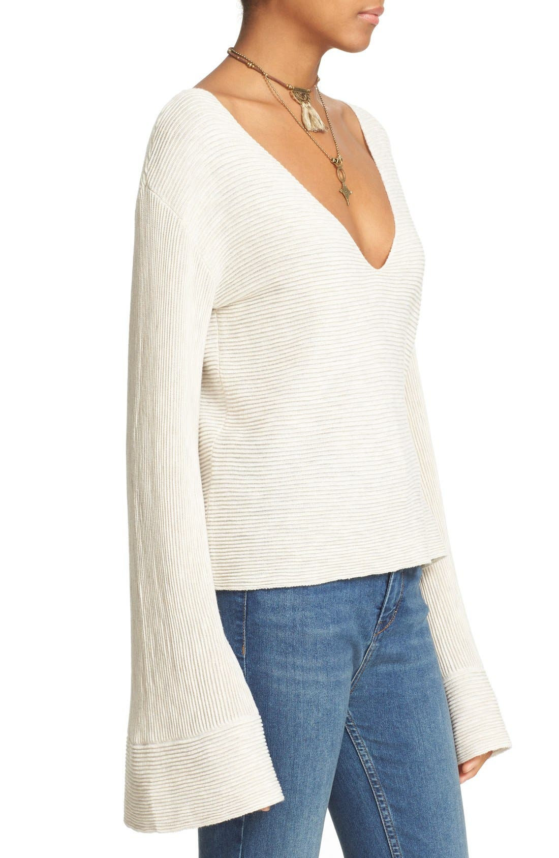 'Starman' Rib Knit Pullover,                             Alternate thumbnail 4, color,                             Ivory