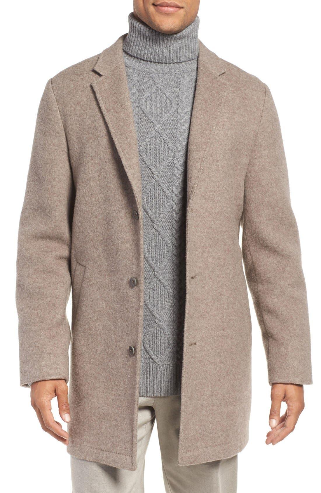 'Wentworth' Wool Coat,                             Main thumbnail 1, color,                             Fawn