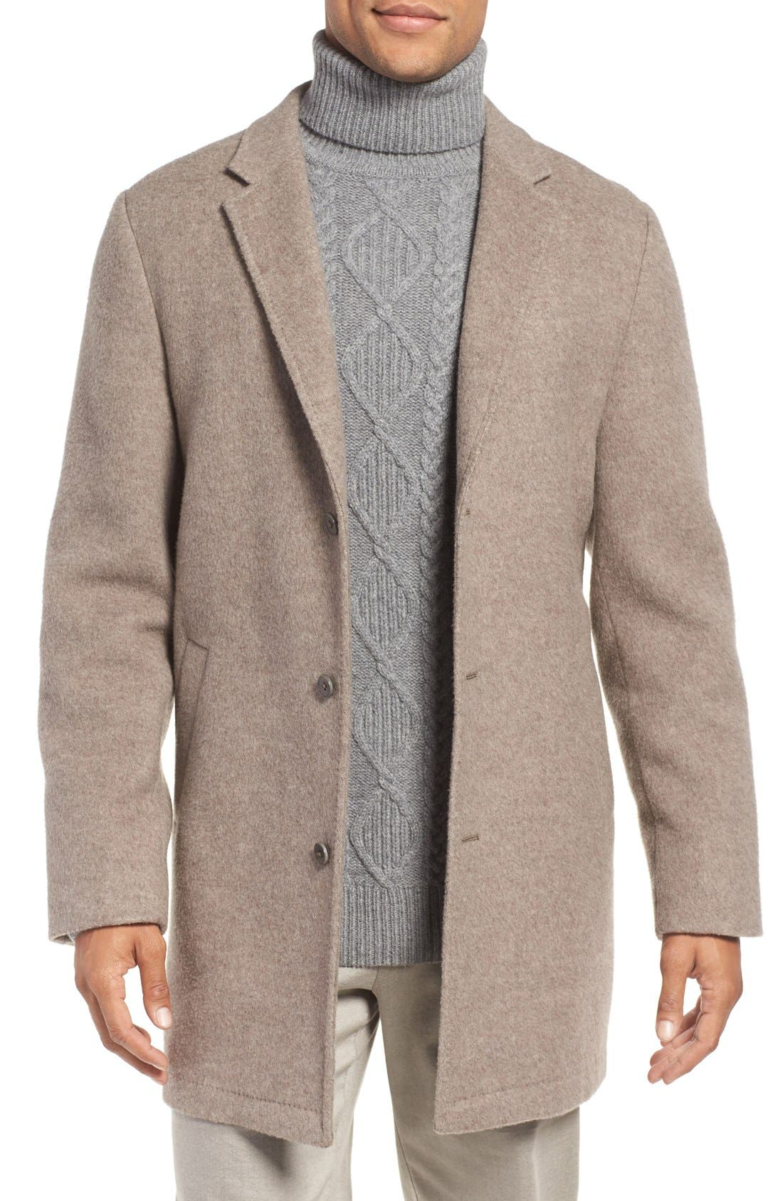 'Wentworth' Wool Coat,                         Main,                         color, Fawn