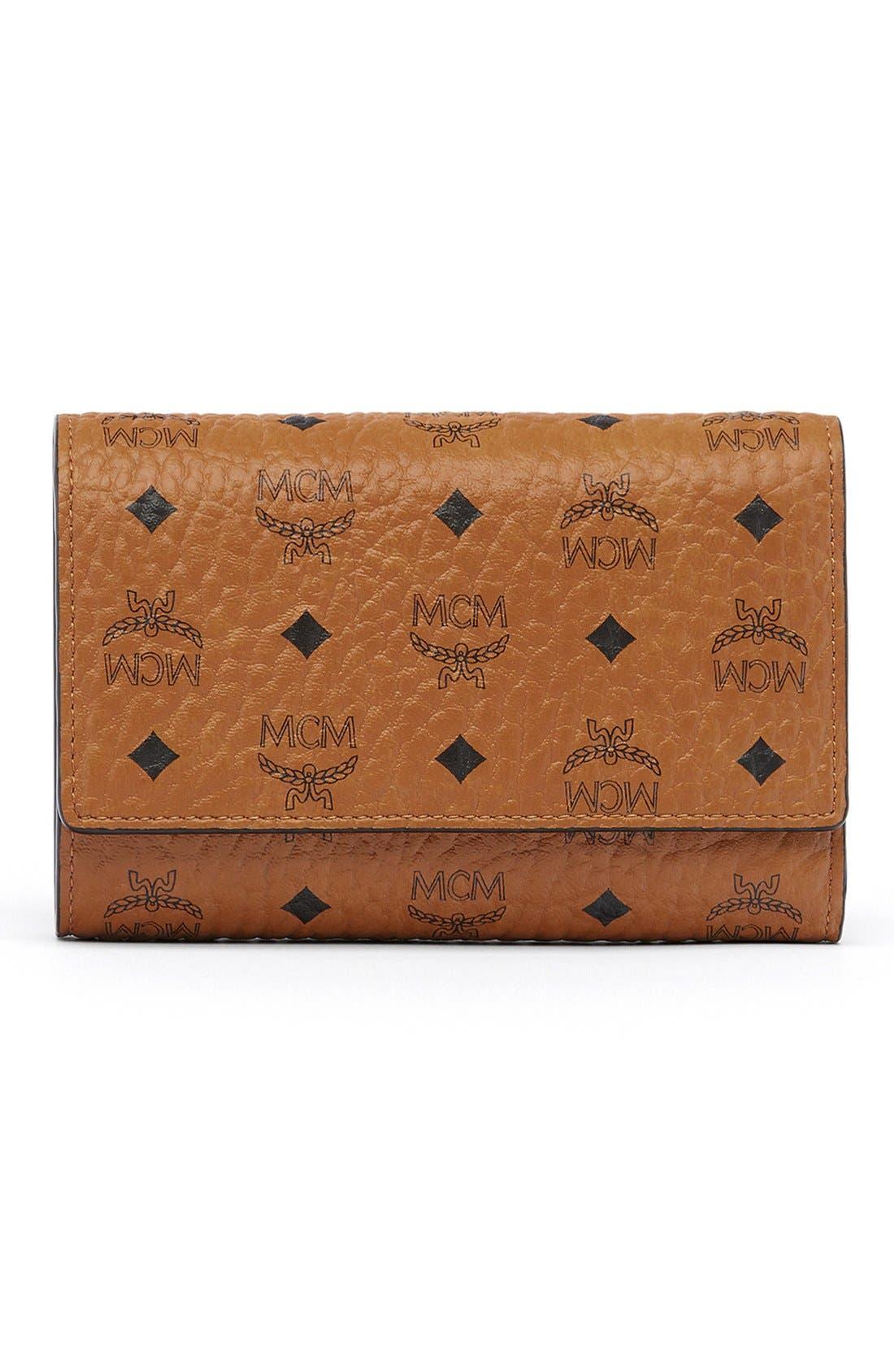 'Visetos' Trifold Wallet,                         Main,                         color, Cognac