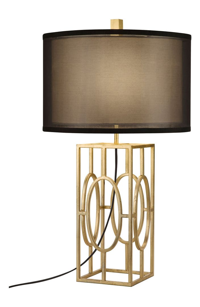 Jalexander Caged Gold Leaf Table Lamp Nordstrom