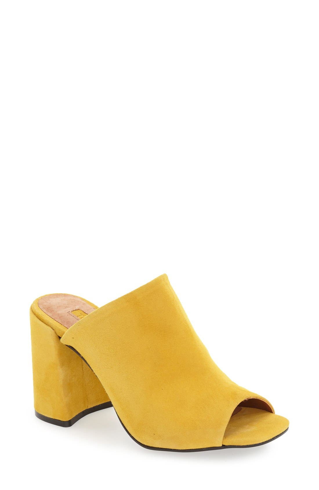 Alternate Image 1 Selected - Topshop 'Ruler' High Vamp Mule (Women)