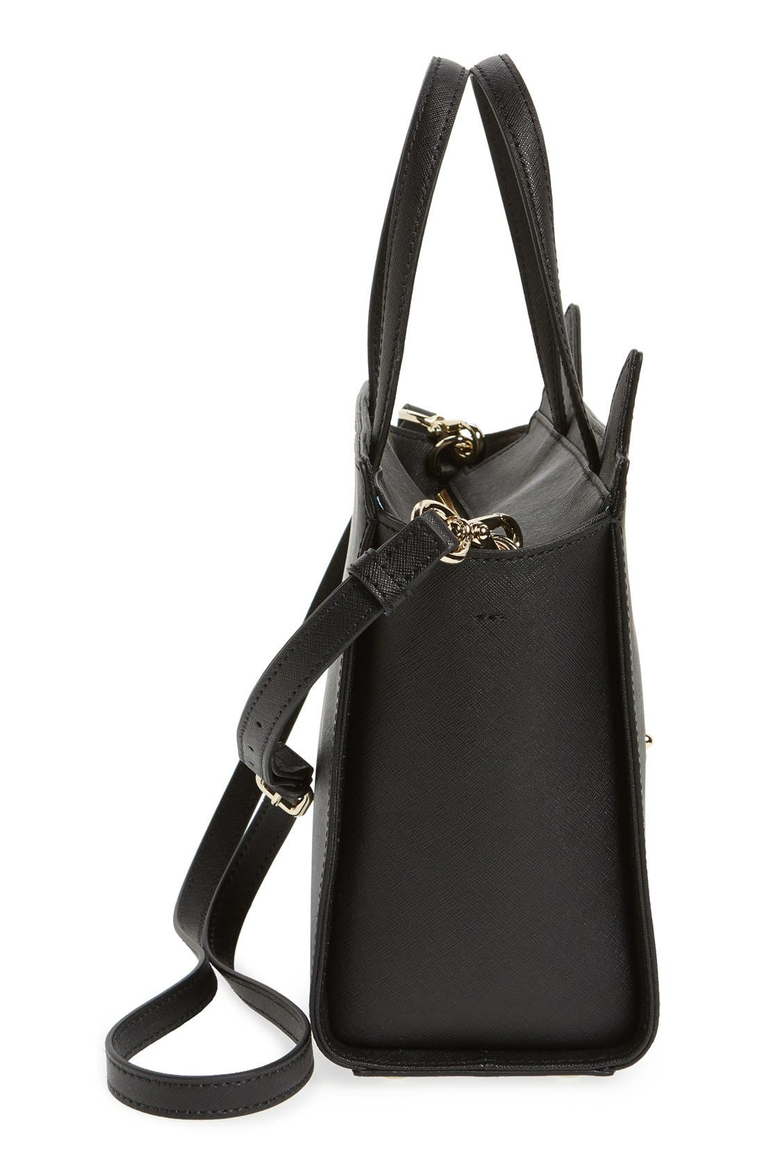Alternate Image 5  - kate spade new york 'jazz things up cat - small hayden' saffiano leather satchel