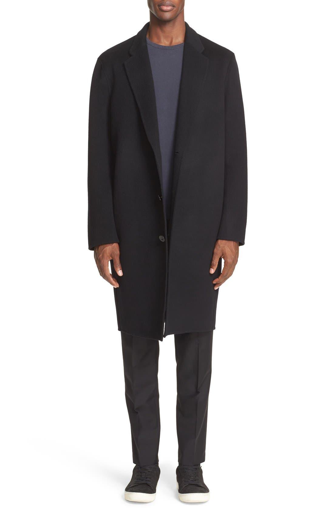 Charles Wool & Cashmere Coat,                             Main thumbnail 1, color,                             Black