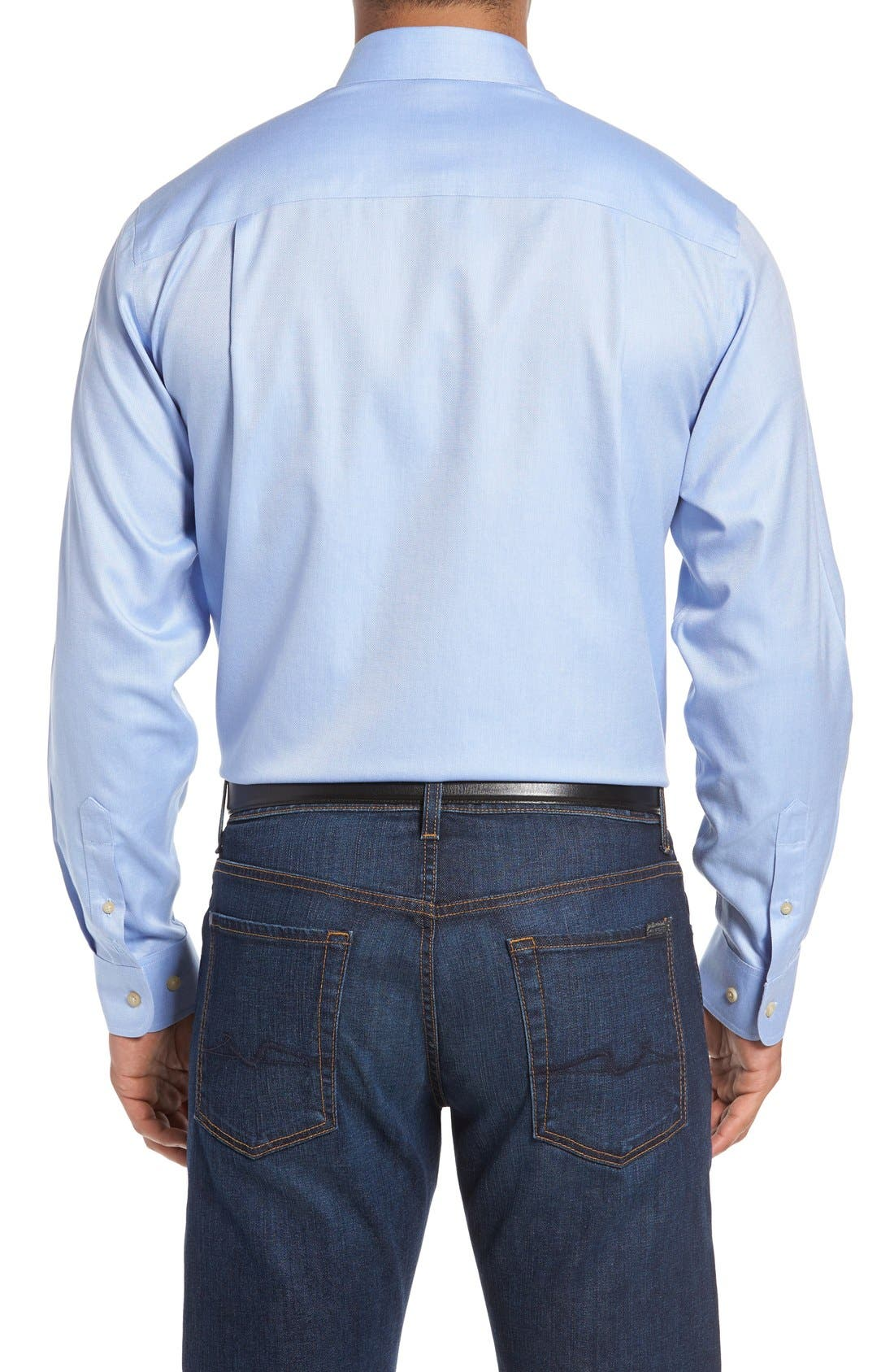 Alternate Image 2  - Cutter & Buck San Juan Classic Fit Wrinkle Free Solid Sport Shirt