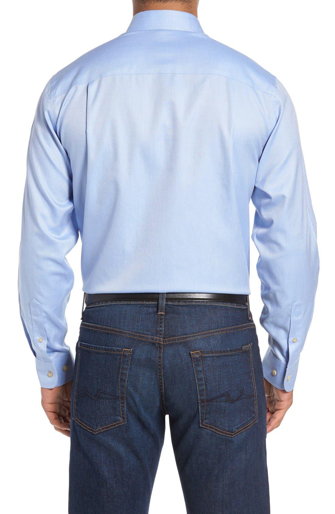 San Juan Classic Fit Wrinkle Free Solid Sport Shirt,                             Alternate thumbnail 2, color,                             Blue