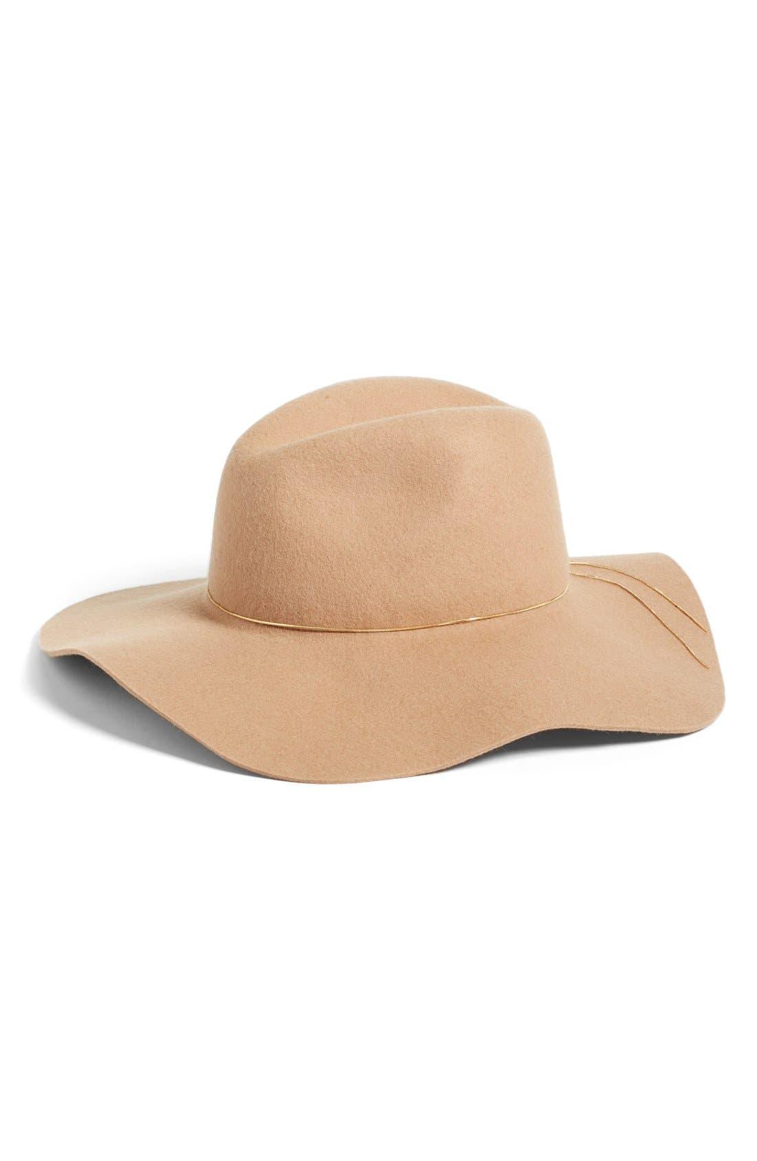 Alternate Image 1 Selected - Hinge Floppy Wool Felt Hat