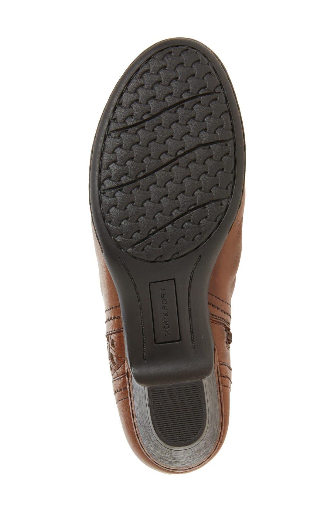 'Abilene' Bootie,                             Alternate thumbnail 4, color,                             Almond Leather