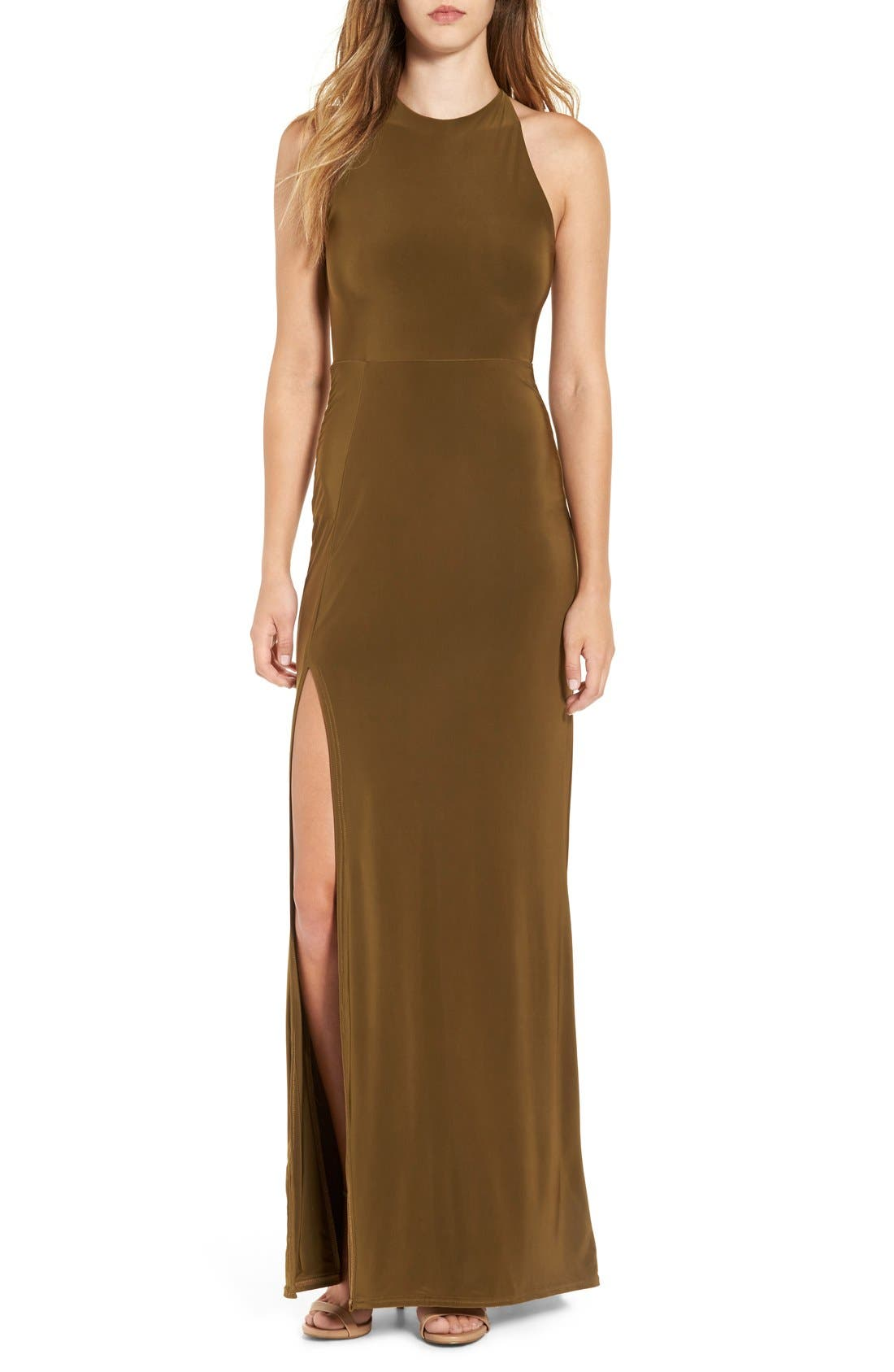 Main Image - Missguided Strappy Back Maxi Dress