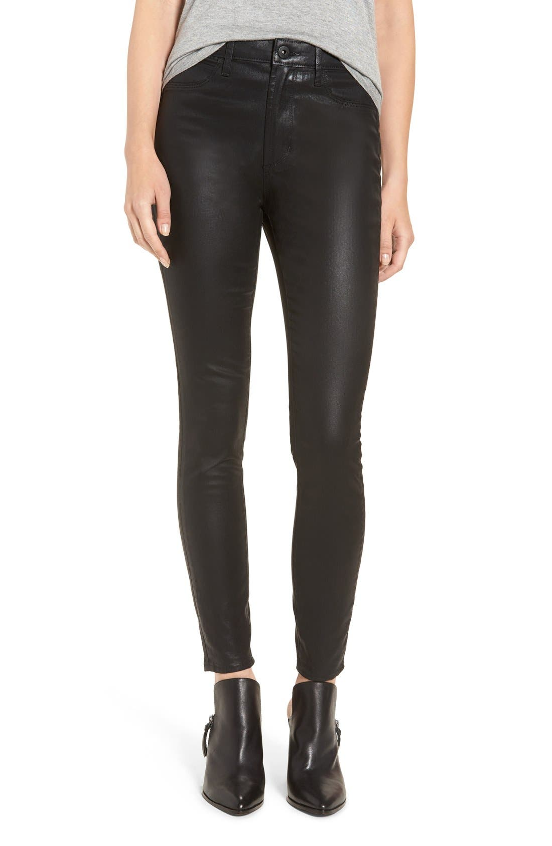 Main Image - Articles of Society 'Hailey' High Rise Coated Skinny Jeans